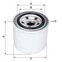 масляный фильтр для вилочного погрузчика TCM, KOMATSU